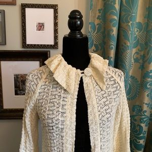 Sweaters - Lace Sweater Coat